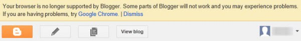 blogger opera notification