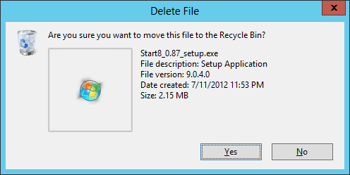 delete file are you sure you want to move this file to the recycle bin