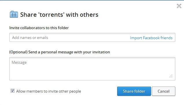 dropbox allow members to invite other people