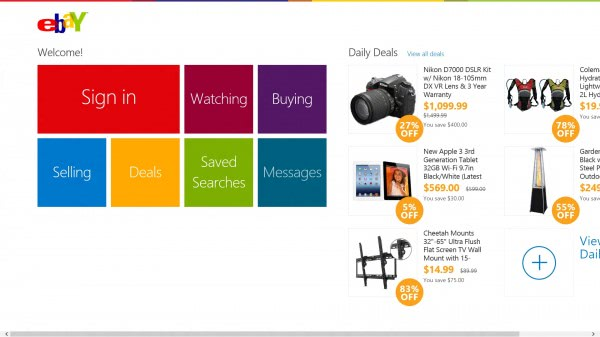 ebay app windows 8