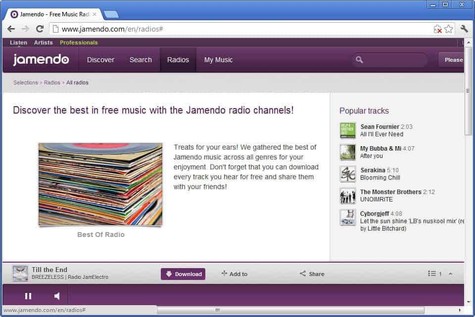 Jamendo Radio Relaunches, free Internet Radio with download