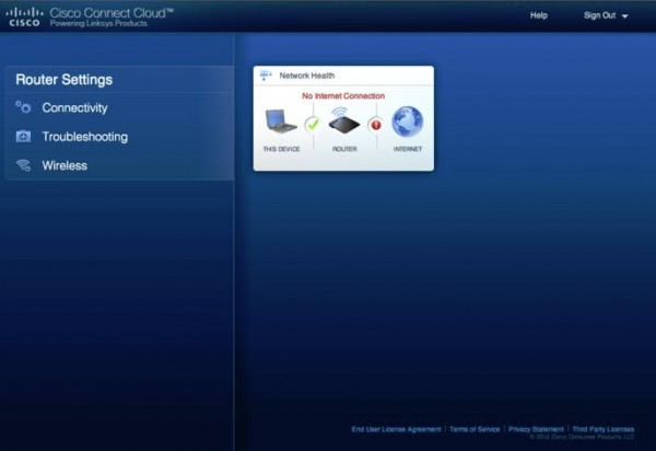 linksys local access