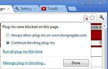 manage plugin blocking