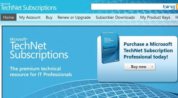 microsoft technet subscriptions