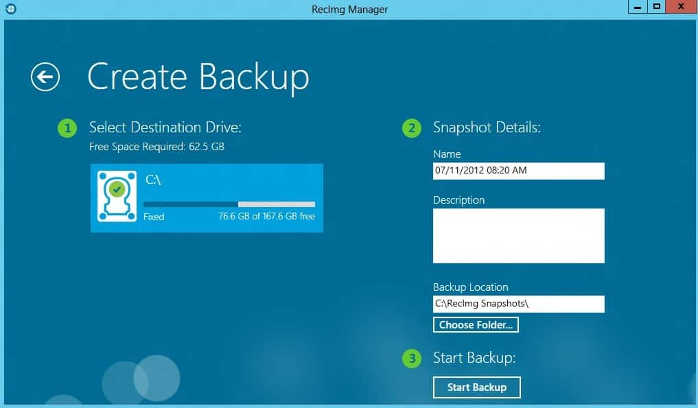 backup in windows 8