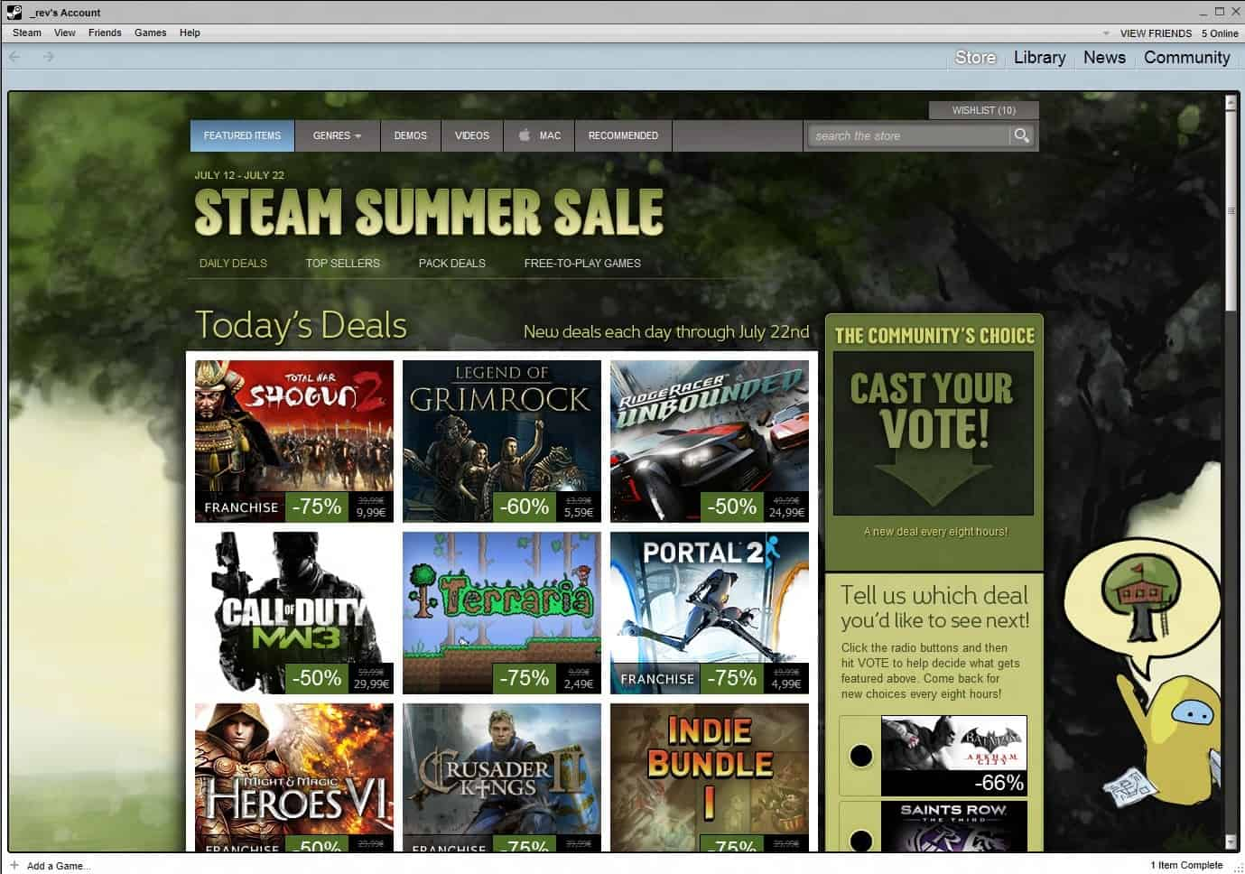 Steam Summer Sale 2017 tips