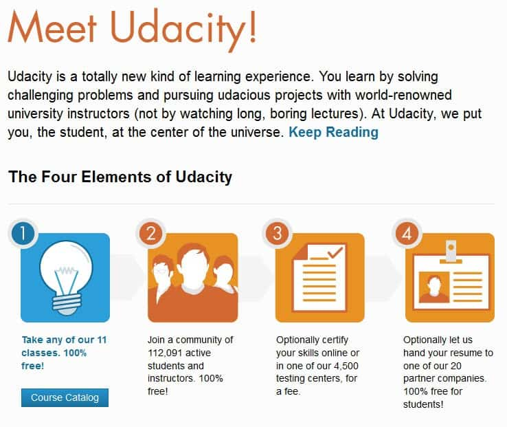 Udacity offers free university grade online courses - gHacks