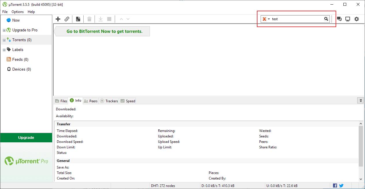 utorrent latest interface
