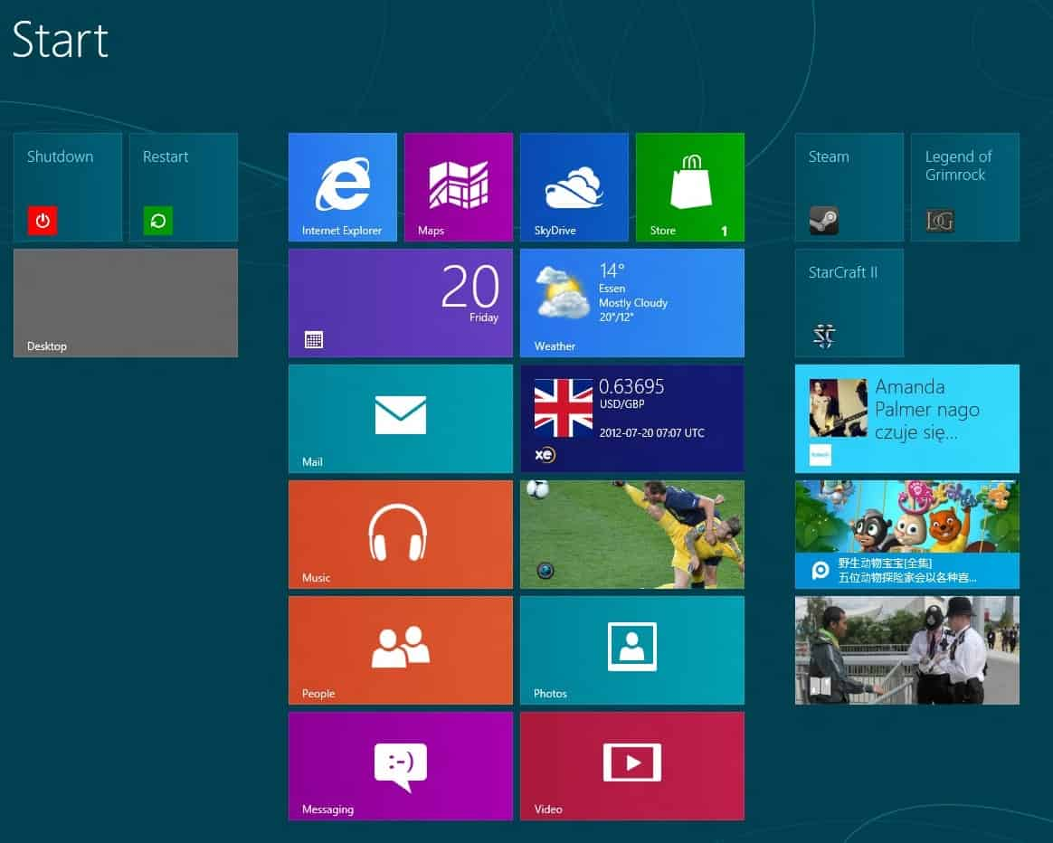windows 8 metro live tiles
