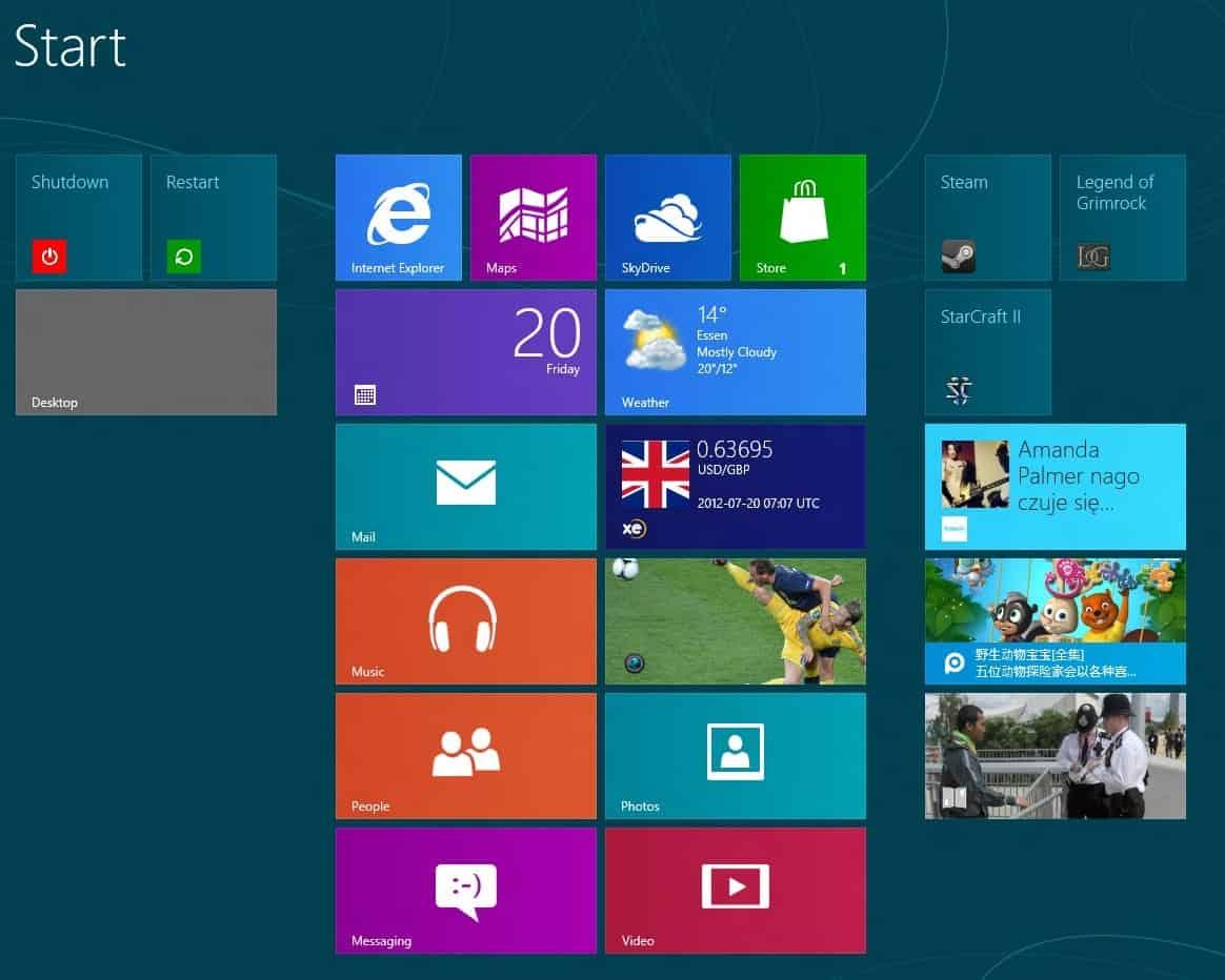 windows 8 metro live tiles