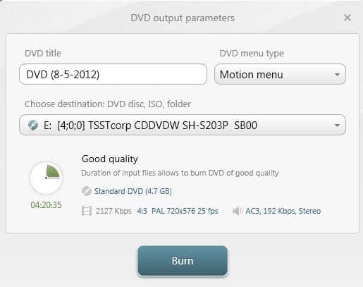 create video dvd