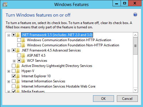 enable net framework windows 8