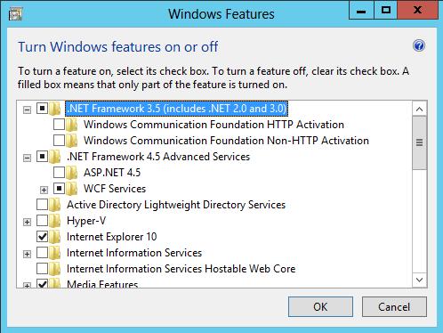 enable net framework windows 8