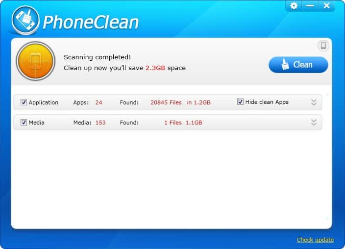 freeing up iphone space with phoneclean
