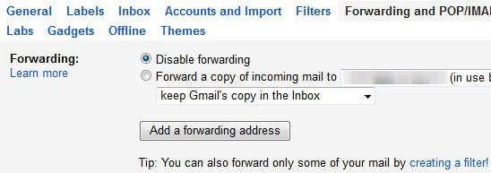gmail forward email