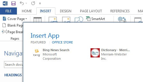 insert app office