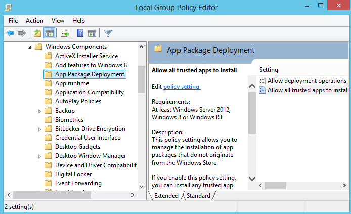 access local group policy editor windows 8