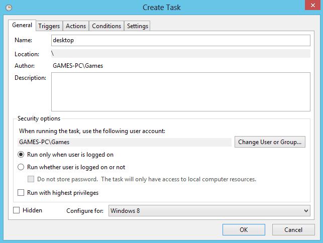 task to desktop windows8