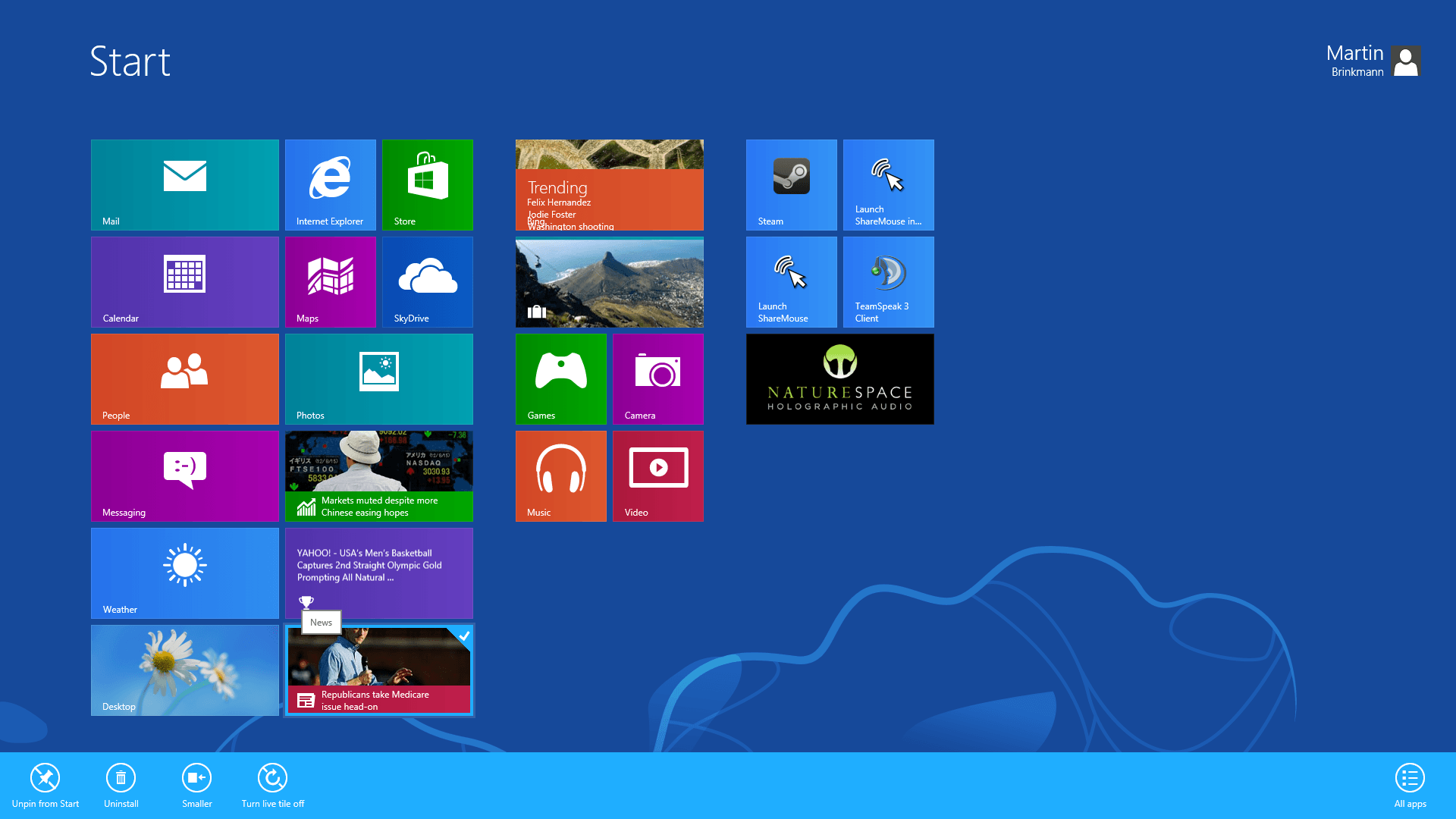 Display Windows 8 App Sizes