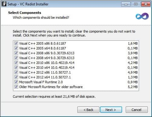 download microsoft visual c++ redistributable for visual studio 2012
