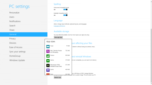 windows 8 app sizes
