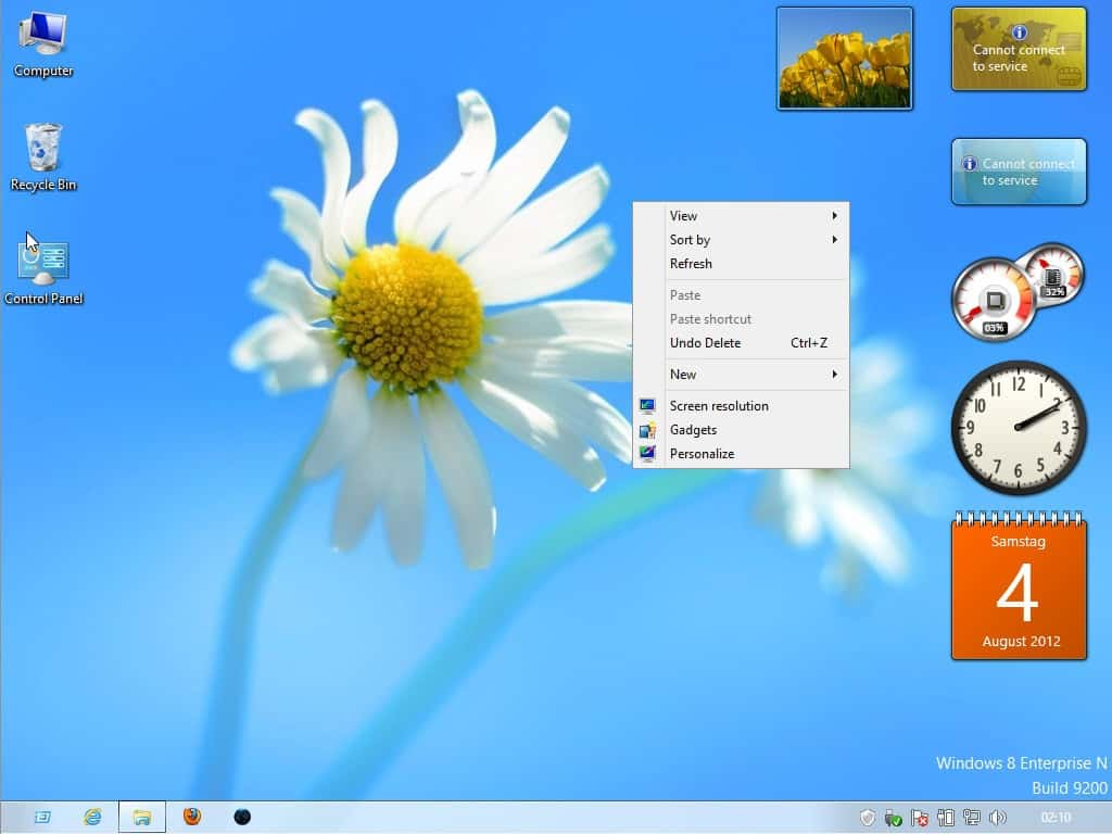 No Windows 8 Desktop Gadgets? Try these two tools to get
