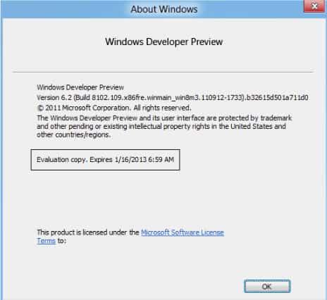 windows 8 expiration