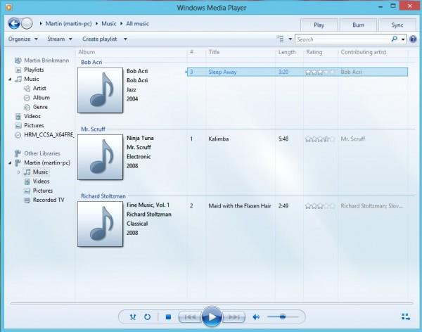 Windows Media Player Windows8
