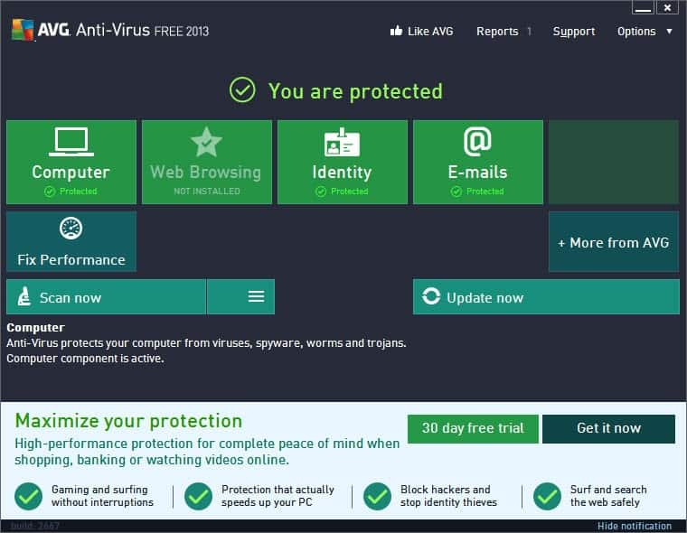 AVG Backup Bundle Screenshot