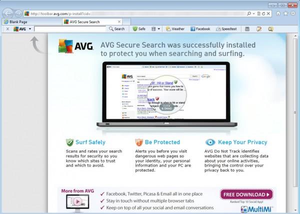 avg security toolbar