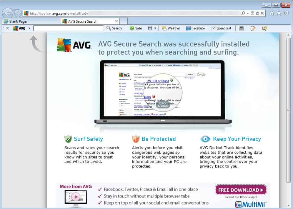 avg privacy not installing
