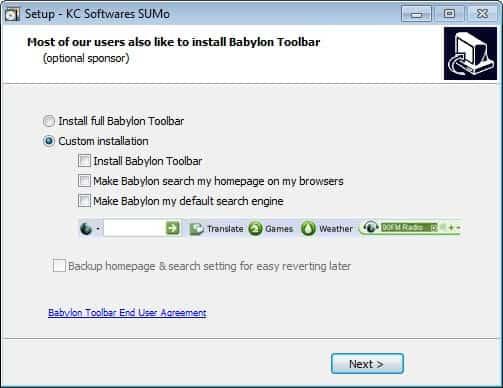 babylon toolbar backup