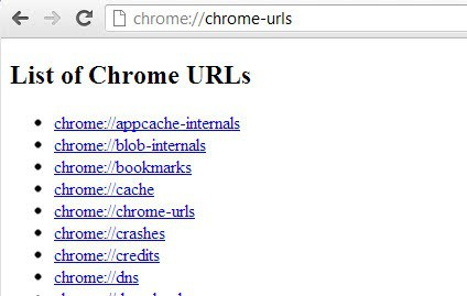 List of Chrome URLs and their purpose - gHacks Tech News