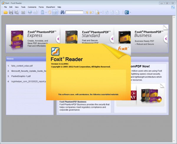 foxit reader 5.4