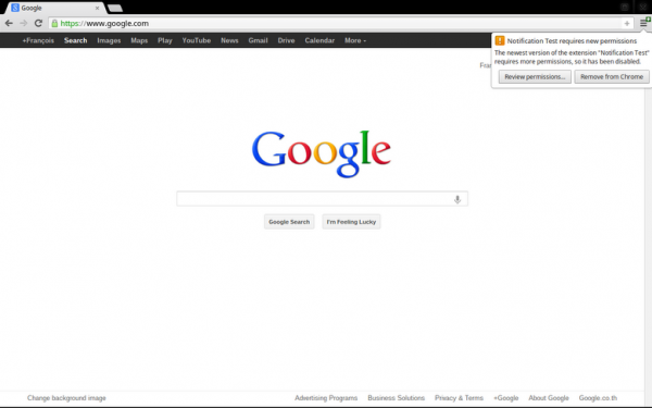 google chrome extension updates
