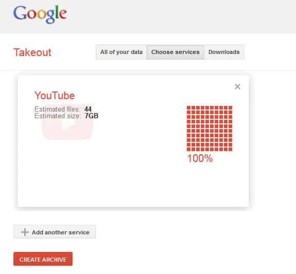 google takeout youtube