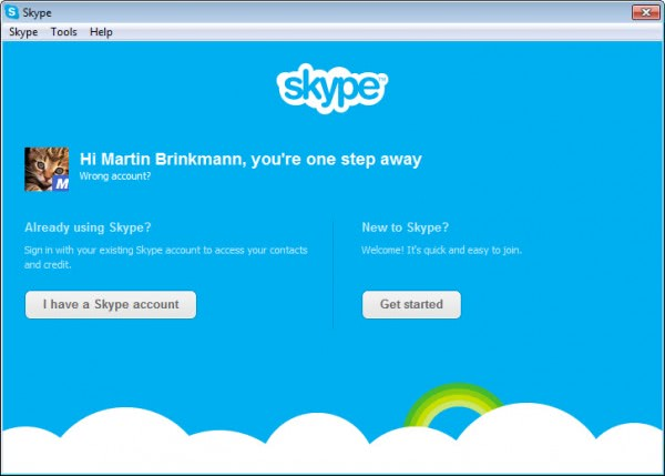 link skype account