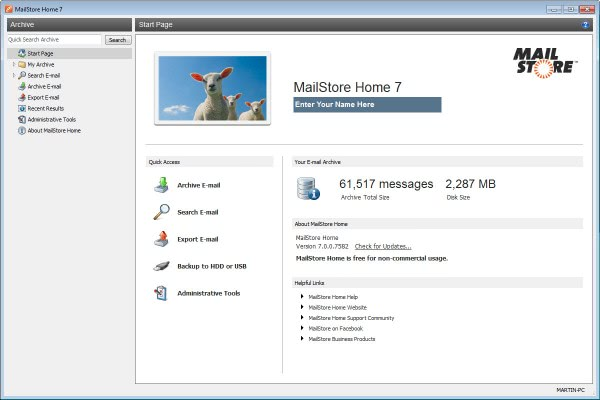 mailstore home 7.1