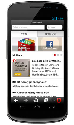 Opera 7.5 Mini for Android introduces new social Smart Page