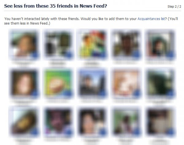 see less news from friends facebook