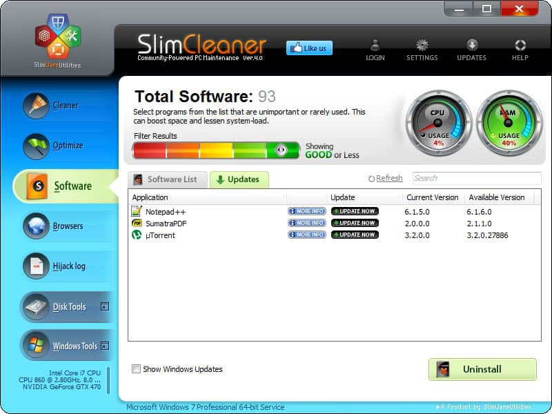 slim cleaner 4.0