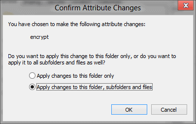windows 8 confirm attribute changes