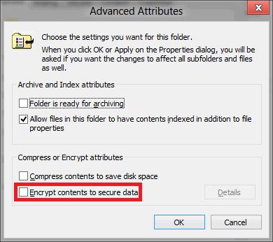 windows 8 encrypt files