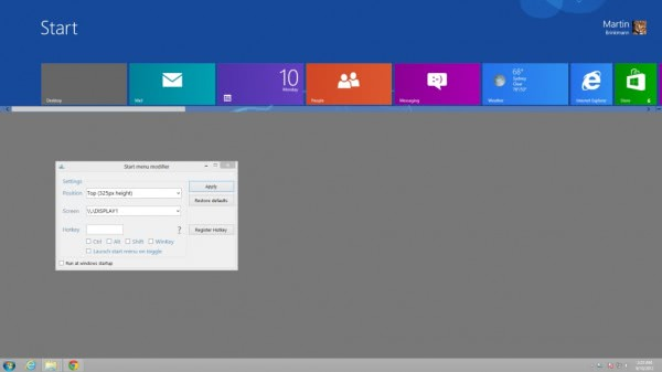 windows 8 share startpage desktop