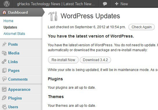 wordpress 3.4.2