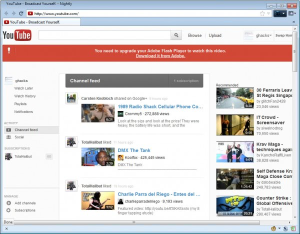 youtube homepage swap