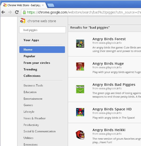 chrome angry birds
