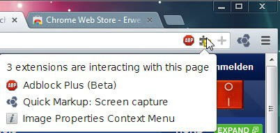 chrome extensions active