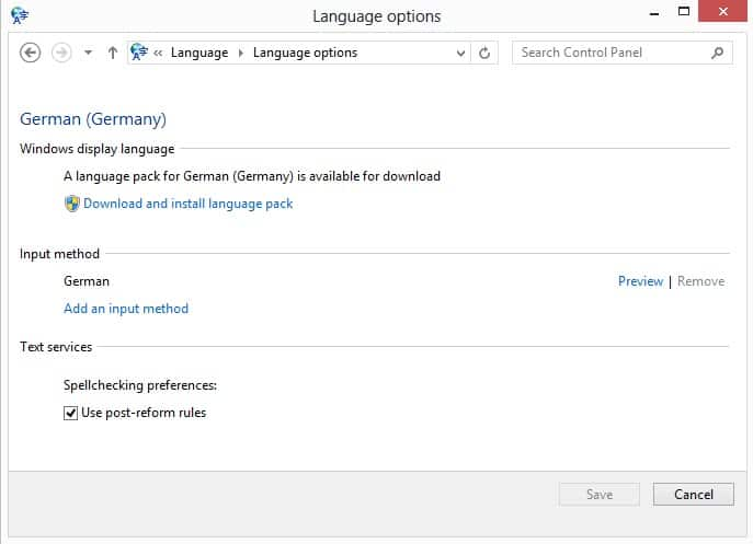 download language pack windows 8