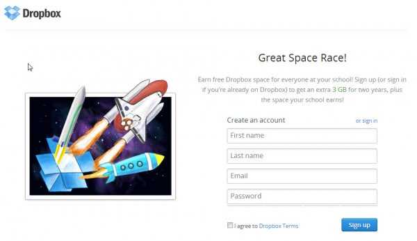 dropbox space race